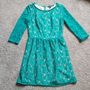 NWOT French Connection Teal Lace Mini Dress Size 6